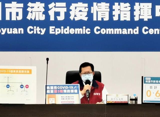 桃園市長鄭文燦對此以臉書說明,桃園確診6例全國最多。(桃園市府新聞處提供)