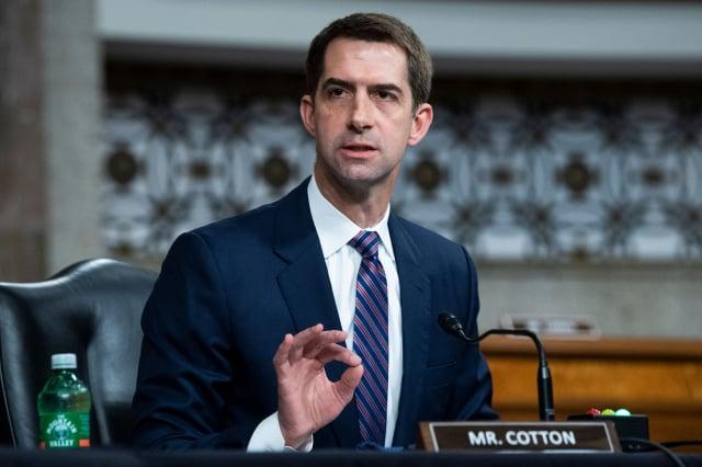 美國阿肯色州共和黨參議員柯頓(Tom Cotton)。(TOM WILLIAMS/POOL/AFP via Getty Images)