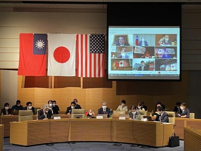 「臺美日戰略對話」29日採線上會議方式舉行。(中央社)