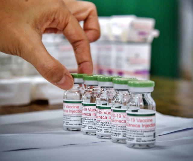 圖為AZ疫苗。(中央社)