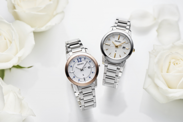 Seiko Lukia推出七夕錶款,以典雅花瓣圖騰搭配清新配色展現濃濃浪漫之情。(Seiko Lukia提供)
