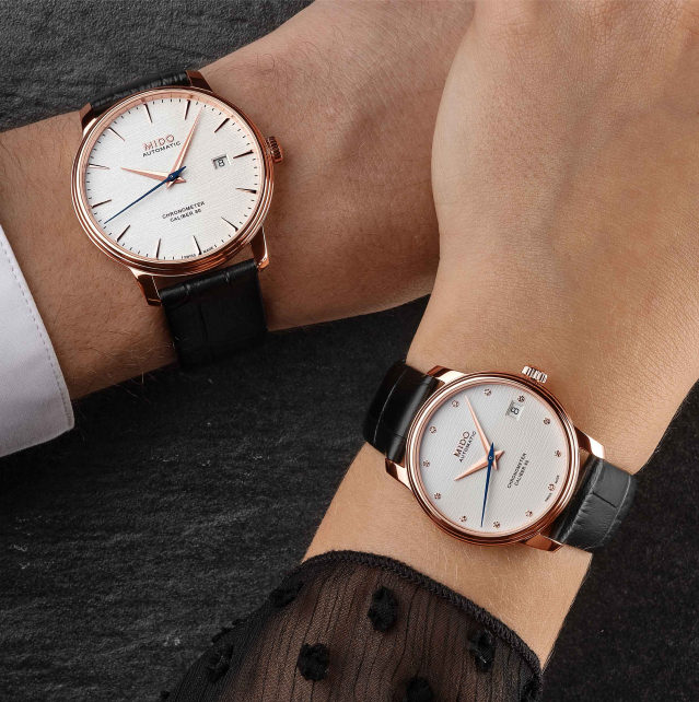Baroncelli Chronometer Silicon永恆系列天文臺認證矽游絲對錶。(MIDO提供)