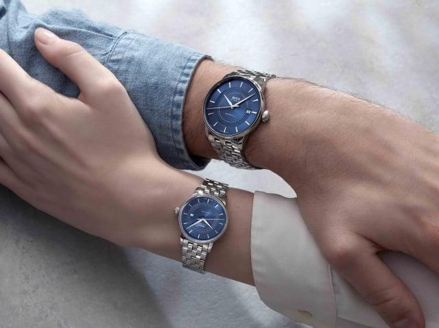 Baroncelli Signature永恆系列經典對錶。(MIDO瑞士美度表提供)