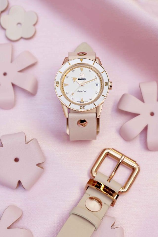 Captain Cook庫克船長Marina Hoermanseder特別版女士自動鑽錶。(Rado瑞士雷達表提供)