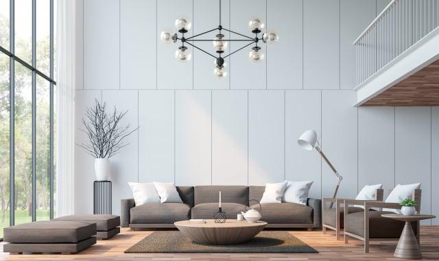 設計房間時,白牆很容易讓人找到顏色相配的家具。(Shutterstock)