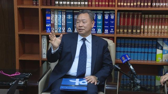 外交部常務次長俞大㵢17日接受宏都拉斯媒體視訊專訪,抨擊中共華而不實的外交作為。圖為資料照。(新唐人電視台)