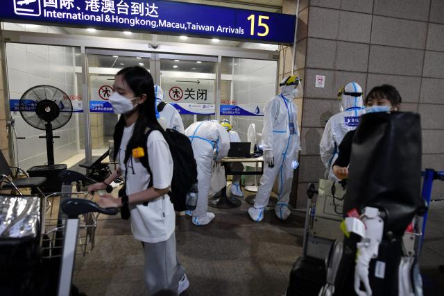 圖為上海浦東機場。(GREG BAKER/AFP via Getty Images)