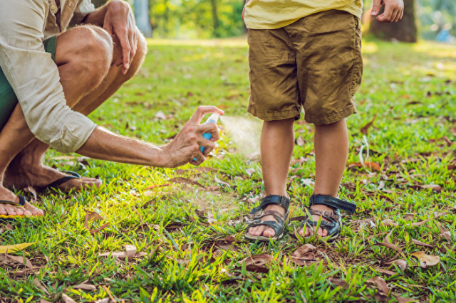 在戶外盡量不要穿涼鞋,露出腳來,因為蚊子經常瞄準容易流汗、滋生細菌的身體部位。(Shutterstock)