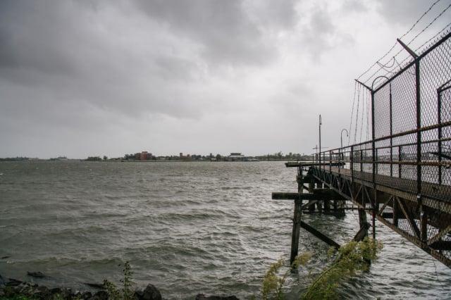 8月29日,颶風艾達抵達前的密西西比河。(Brandon Bell/Getty Images)