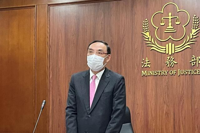 法務部長蔡清祥1日重申,大麻不可能合法化。(記者袁世鋼/攝影)