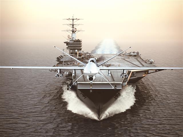 美軍無人機示意圖。(123RF)