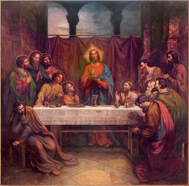 壁畫《最後的晚餐》,利奧波德·庫佩爾維瑟(Leopold Kupelwieser)創作於1889年。(Shutterstock)