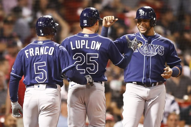 盧普洛(中)、克魯茲(右)都有全壘打表現。(Adam Glanzman/Getty Images)