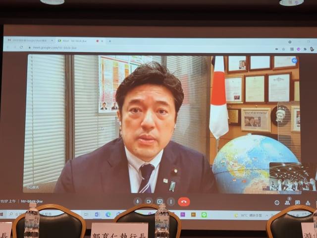 日本防衛副大臣中山泰秀。(記者吳旻洲/攝影)