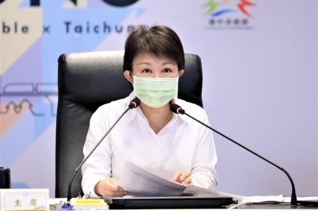 市長盧秀燕說,臺中一切平安。(臺中市政府提供)