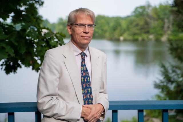 哈佛大學教授庫爾多夫(Martin Kulldorff)。(記者York Du/攝影)
