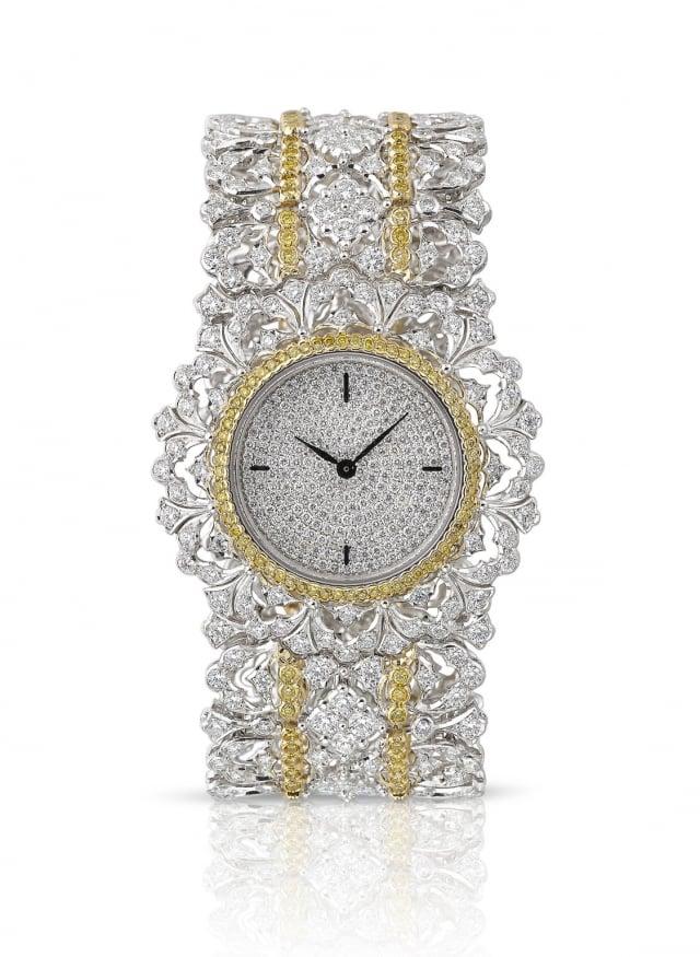 微風廣場全球獨家BUCCELLATI Bijou Watch系列手錶。