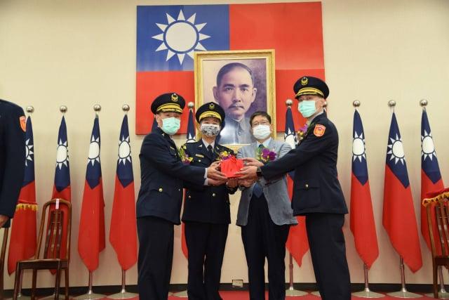 竹東分局新卸任分局長交接。