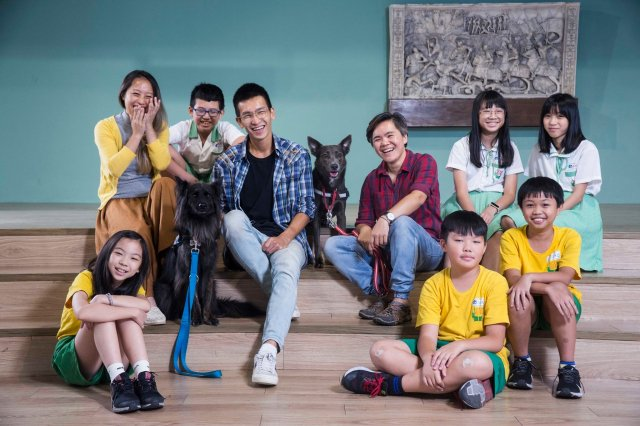台灣心輔犬培育團隊。(桃園市青年事務局提供)