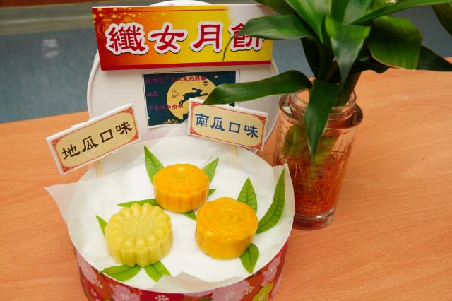 「纖女月餅」,無油少糖輕鬆無負擔。(天成醫院提供)