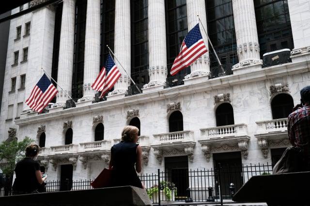 美國股市首次公開募股(IPO)的募資金額在2020年創下紀錄。圖為紐約證交所。(Spencer Platt/Getty Images)