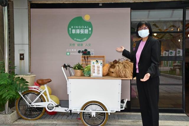 車庫餐廳總經理吳文慧表示,她想要經營的不只是一家餐廳,而是要打造一個天然、健康、人文,多元化的大健康服務平台。(記者賴月貴/攝影)